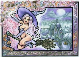 The Candy Witch and Halloween (Digitally Edited) by SquirrelHsieh