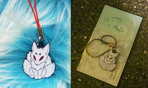 FOR SALE: Chibi kitsune phone charm by goiku