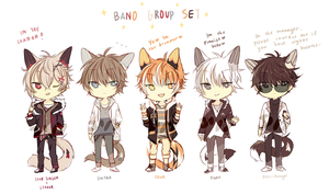 [AUCTION] LineHeart - Band set - : closed by ErinAdopts