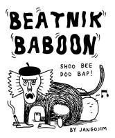 BEATNIK BABOON STICKER by laresistance