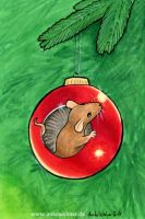 Christmas Mouse by ankewehner