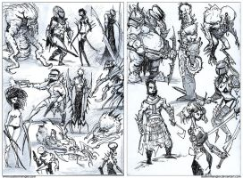 Character/Creature doodles by AustenMengler
