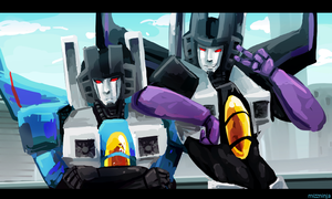 thundercracker skywarp by mizz-ninja