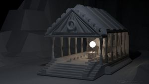 Greek Temple by MicehellWDomination