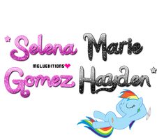 Texto PNG *Selena Marie Gomez Hayden* by Melody478