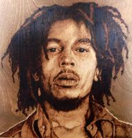 Bob Marley wood burn by LUKAS-87