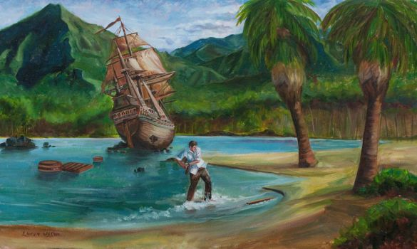 Swiss Family Robinson Shipwreck by LaurenKnorr