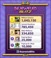 Bejeweled Blitz - Over 1 Million Points in 1Minute by tallsimeon2003