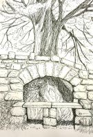 Tree and Wall by o0NeonCola0o