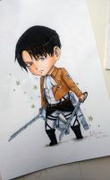 LEVI ACKERMAN CHIBI ver. with COPIC by deicus4ever