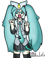 Practice Picture: Hatsune Mikyurem by ChorpSaway