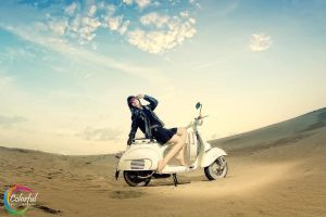 With my Vespa by dytho666