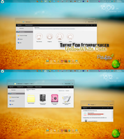 Theme For IconPackager YellowWhite Cute by PiitufiitoGrr