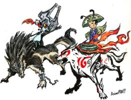 Link vs Amaterasu by AnimePOOPY