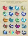SOCIAL MEDIA ICON GRUNGE PEELING by socialbeaker