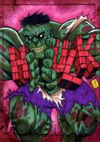 Zombie Hulk PSC by Foreman by chris-foreman