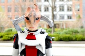 Mordin Solus by proppedupcreations