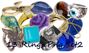 13 Rings Png  Set_2 by JEricaM