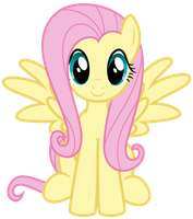 Fluttershy sitting by thatguy1945
