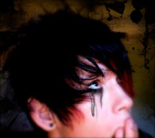 emo boys cry eyeliner by drop-dead-darling
