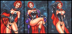 BLACK QUEEN PERSONAL SKETCH CARDS by AHochrein2010