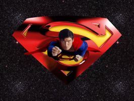 Christopher Reeve Superman wp by SWFan1977