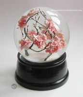 : large sakura snowglobe : by BastardPrince