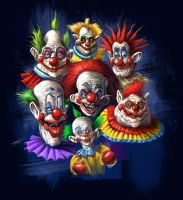 Killer Klown T-shirt design by Grimbro