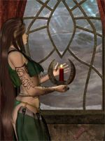Candle in the Window by jesserev
