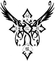 Winged Cross Tattoo by Renescence