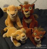 DS Sitting and Laying Kiara and Kovu by TygonCub