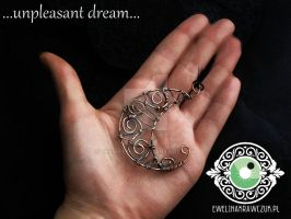 Moon pendant wire wrapped by eeeweeelin