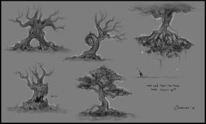 Trees Concept Sheet 2 by AlexanderExorcist