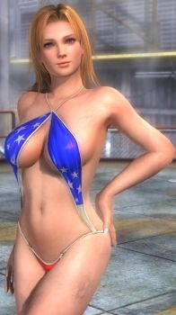 Dead Or Alive 5 Tina's secret swimsuit by desmondlogan