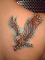 eagle tattoo on  Melissa by tattooistgus