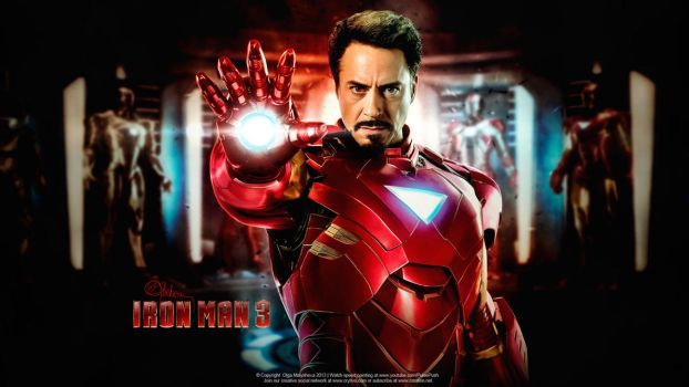 Iron man 3. Tony Stark. by push-pulse