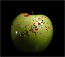 Apple Stitches by CreativeNitemare