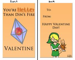 Valentine 5 - LOZ You're Hotter than Din's Fire by ImzadAmyMoon