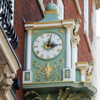 Fortnum and Mason's clock - London 2014 by wildplaces