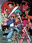 Scott Pilgrim Box Set Poster by whoisrico