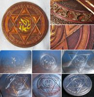 Rayearth - metal embossed symbol by Rubenandres77
