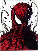 Spider-Man Symbiote Sketch Card by Graymalkin2112