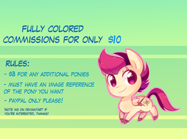 Chibi Poni Commissions Open by pekou