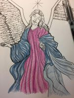 Angel commission- WIP by ansem-the-dead