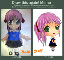 Draw this again Meme - My first Chibi by Happy-Nyan