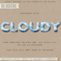 PS Style: CLOUDY by HGGraphicDesigns