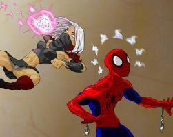 too late Spidey by slippyninja