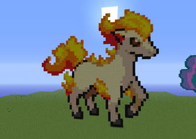 Ponyta - Minecraft by LadyZenora