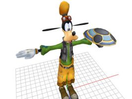 MMD Kingdom Hearts Goofy by Valforwing