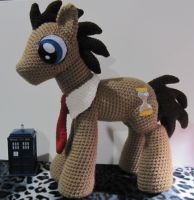 Doctor Whooves by NerdyKnitterDesigns